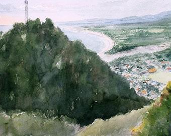 Quepos orginal watercolor painting 16 x 12