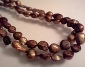 Cultured Freshwater Pearl Beads Bronze Copper Baroque 11x12-16mm 15 inch Strand S2914