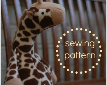 Jeremy Giraffe - PDF Sewing Pattern with Easy Instructions and Step-by-Step Photos