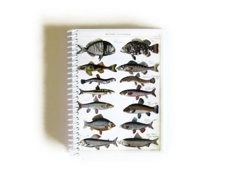 Natural History, Fishes Notebook, Back to School, Pocket Notebook, Blank Sketchbook, Writing Journal, 4x6 Inches Notebook, Gifts Under 15