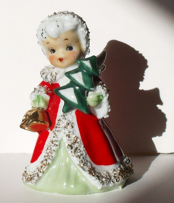 Vintage christmas lefton figures