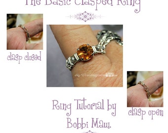 a Basic Clasped Ring - Wire Jewelry Tutorial - Instant Download Pdf File