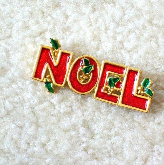 NOEL Vintage Christmas Pin Free Shipping to USA
