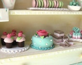 Shabby Confectionery Cabinet Customize Build Your Own Miniature Dollhouse Candies Sweets Desserts