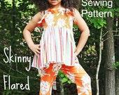 Girls Skinny Flared Pants Pattern Tutorial Doll Babies Toddlers through 8 girls PDF Instant