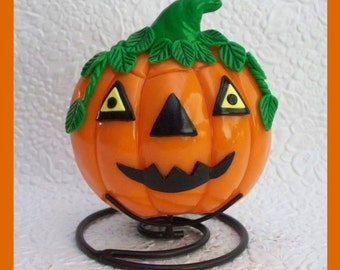 Halloween Pumpkin Tea Light Candle Holder No. 2
