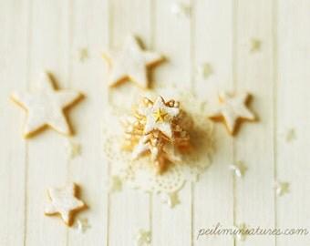 Miniature Food - Dollhouse White Christmas Cookie Tree - 1/12 Dollhouse Miniature Scale