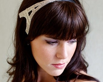 Francophile Headband Silver Eiffel Tower  Women Teen Adult