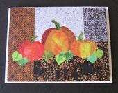 Art Quilt Card - Pumpkin Patch