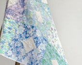SALE! Patchwork Quilt - Diamonds in the Sky