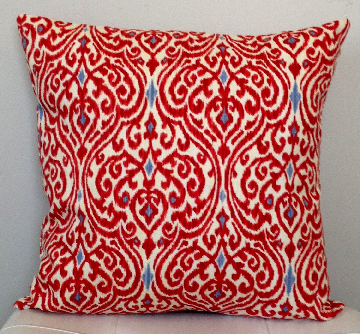 Ikat Throw Pillow Covers : CHRISTMAS PILLOW COVER Red Ikat Pillow Cover decorative