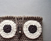 Owl Decor, Owl iPad Case,  iPad Cover, Crochet Owl Purse, iPad Sleeve, Tablet Case, Crochet Owl Bag, Rustic Owl, Owl Crochet, Owl Gifts