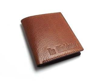 The Perfect Leather Wallet, Personalized, Monogrammed, Spice, Cognac, Cinnamon Brown leather Wallet for him, Billfold, Bifold