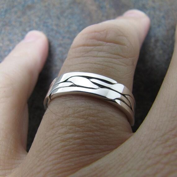 Mens Silver Ring Mens Wedding Band
