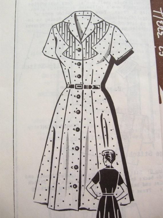 Patt-O-Rama 8286 Rare Mail Order Western Shirt Dress Vintage Sewing Pattern Bust 36 Rockabilly Style