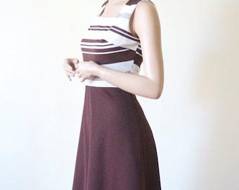 SALE MOD DRESS Striped Romper by Nu Mod Day Dress / Romper