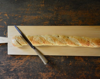 Classic maple baguette cutting bread board  - a great foodie gift