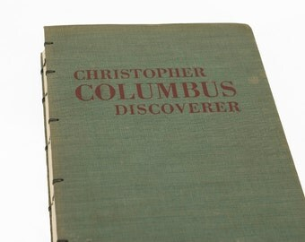 1950 CHRISTOPHER COLUMBUS Vintage Notebook Journal