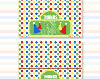 Sesame Street Inspired Party PRINTABLE Fold Over Tags (INSTANT DOWNLOAD) by Love The Day