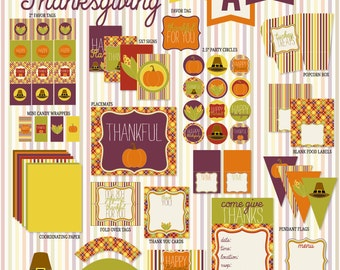 Thanksgiving PRINTABLE Party Full Collection by Love The Day