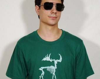 SALE Zombie Moose on 100% Cotton Evergreen T-Shirt - Available in S