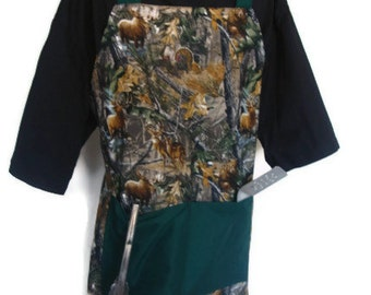 Grilling Apron, Realtree Camo aprons, Barbeque Apron, full hostess aprons for men or women, chef apron, father's day gift for dad