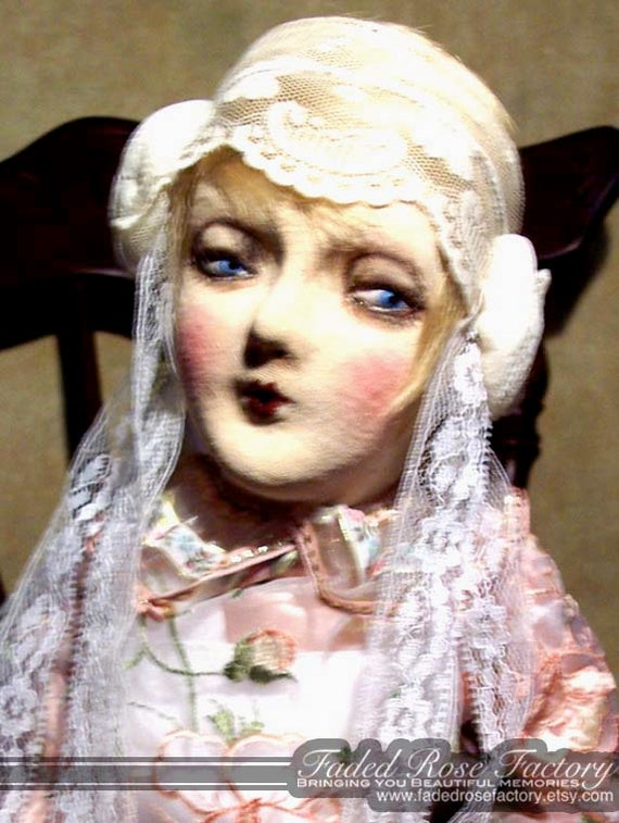 Cloth Art Doll, OOAK, Flapper, Boudoir Doll, Art