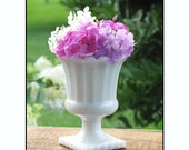 Vintage Translucent Milk Glass Planter