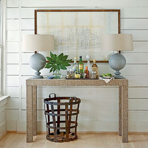 Upholstered Console Table Custom Built Design by livenUPdesign