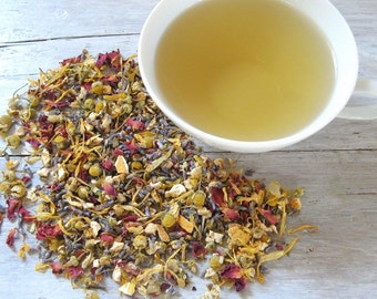 Lavender Lullaby Organic Herbal Tea • 2 oz. Kraft Bag • Soothing Calm Sleepy Loose Leaf Blend