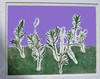 """The """"Lavender Dream"""" SALE - was 219 now 169, hand-pulled botanical monotype print, original work of art, 16 x 20 inches"""