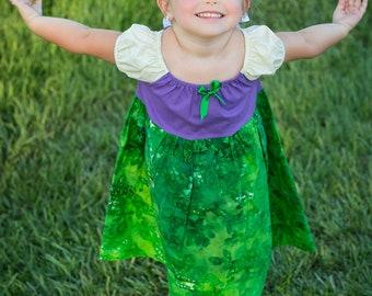 Ariel The Little Mermaid Disney Princess Peasant Dress Costume Christmas Present