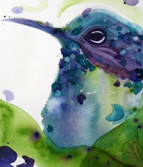 Items Similar To Watercolor Hummingbird Art Print On Etsy