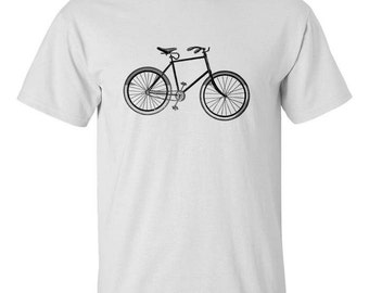 Mens Screen Printed Bicycle Shirt