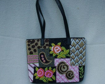 VINTAGE BEADED PURSE , Fully beaded front back and bottom, Beaded Purse, Art Deco Purse
