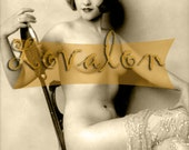 MATURE...1920's Vintage Nude Photo... Digital Download Image by Lovalon