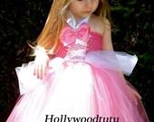 Princess Aurora inspired tutu dress sleeping beauty costume.
