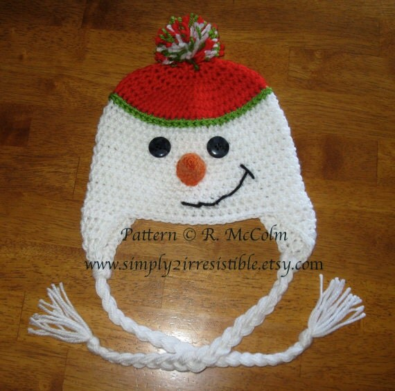 Snowman Hat Pattern Crochet Pattern 10 by Simply2Irresistible