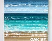 "Oak St Beach - 12"" x 12"" Handpainted on Canvas"