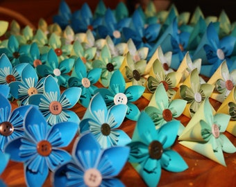 Bulk paper kusudama flowers, wedding, cake flowers, anniversary , birthday , get well soon, origami