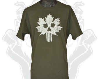 Canada Flag Skull Shirt Military T shirt Canadian Maple Leaf distressed Tshirt Canadian Army Tee Canada military gift for boyfriend husband