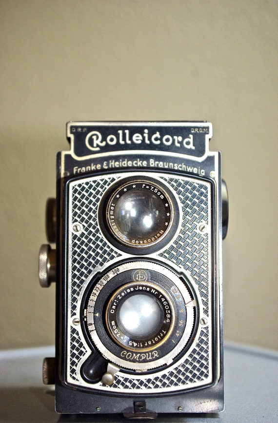 Rare Vintage Art Deco Rolleicord Camera, c. 1933 - 1936