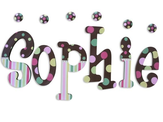 wooden letters wall letters painted letters wooden name letters wall hanging