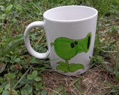 Plants vs. Zombies Hand-Drawn Ceramic Mug, Pea Shooter: 7th in a Series of 7