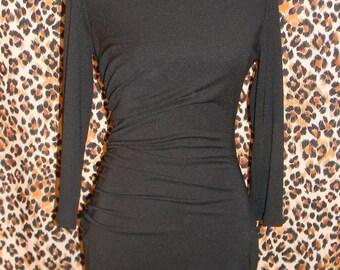 Little Black Side Gathered Dress