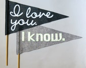 Star Wars Pennant Flags - Grey - Mr & Mrs Wedding, Save the Date, Ceremony, Photo Booth prop New Design