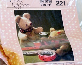 Teddy Bear Kit, Daisy Kingdom 221, Stuffed Doll, Bearly There, B10