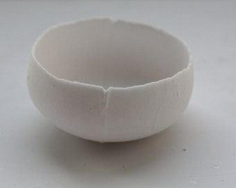 Micro bowl white stoneware English fine bone china