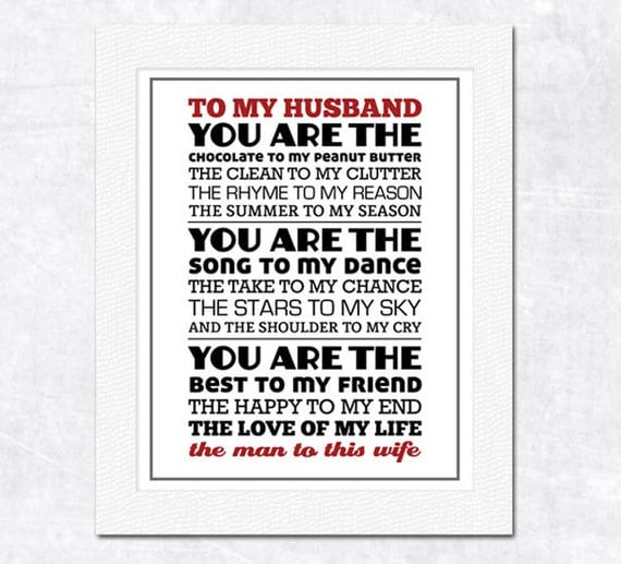 Items similar to perfect pair original poem anniversary What to get my wife for first anniversary