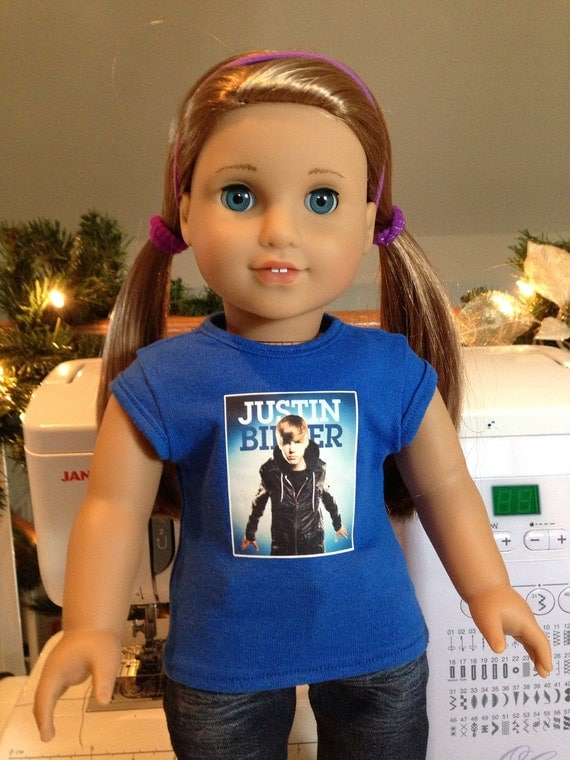 Custom Justin Bieber Shirts For American Girl And 18